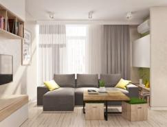 2个简约清新的小公寓设计欣赏