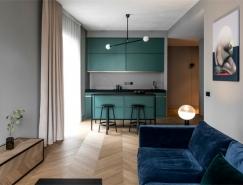 Basanaviciaus高冷灰色调的公寓设