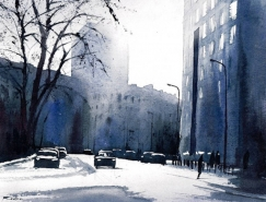Rafal Rudko漂亮的水彩街景畫欣賞