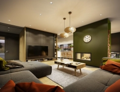 秋天的色调:温暖现代的公寓设计