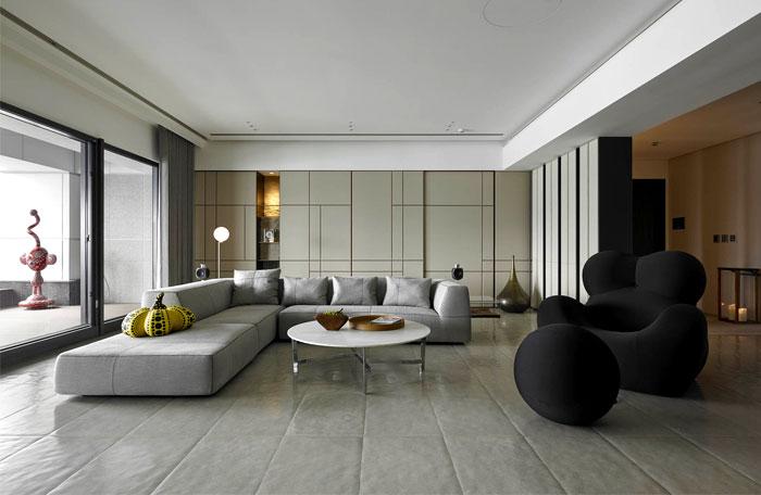 台湾淡水简约风格豪华住宅装修设计