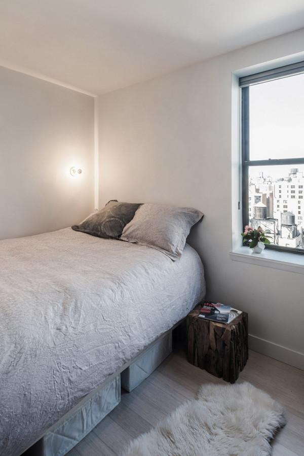 纽约曼哈顿75平米酷黑现代风格公寓设计