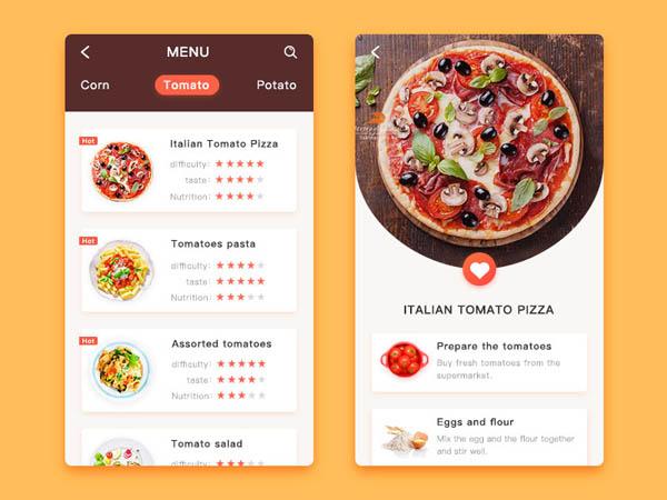 个美食app应用ui设计 设计之家