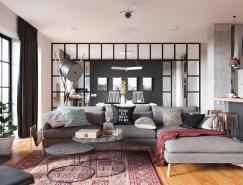 精致配色的现代一居室装修设计