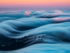 Nicholas Steinberg拍摄旧金山雾浪 气势壮观不逊云海