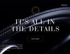 网站色彩搭配:低调大气的黑白网站设计