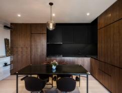 纽约曼哈顿75平米酷黑现代风格公寓澳门金沙网址