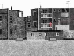 Francesco Giustozzi插画作品:城市的街道
