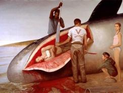 离奇迷人的世界:Bo Bartlett超现实主义绘画作品