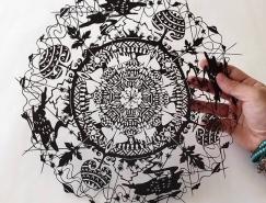 日本艺术家Riu令人惊叹的剪纸艺术
