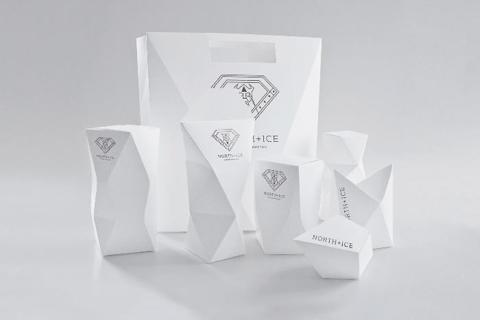 North Ice北欧极简风格化妆品包装设计