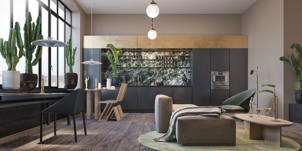 3个时尚的灰色风格现代家居装修设计