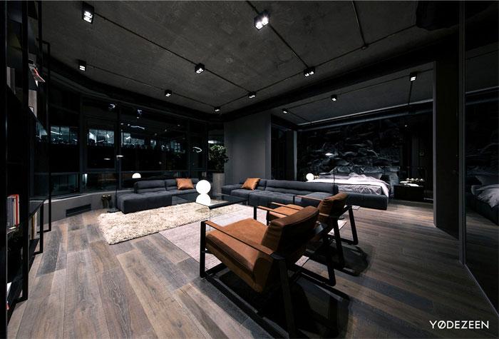 时尚黑暗系家居装修设计 设计之家
