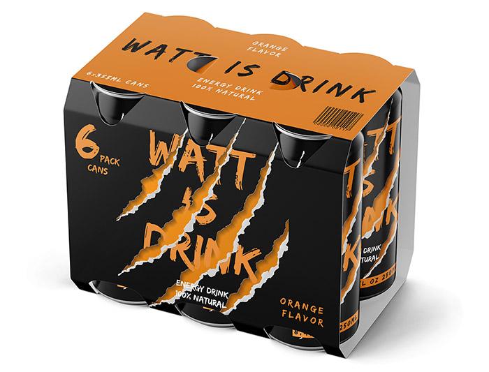 Watt is drink能量饮料包装设计