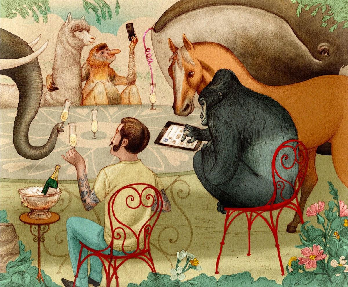 Jonathan Burton书籍插图设计欣赏