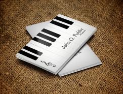 钢琴元素主题名片设计欣赏
