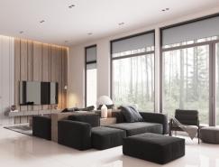 極簡,簡色,北歐風現代住宅裝修設計