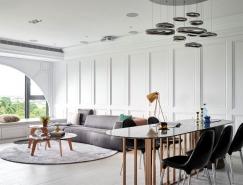 清晰线条和优雅装饰:高雄艺术时尚的现代公寓设计