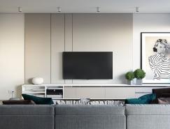现代时尚风格一居室公寓装修设计