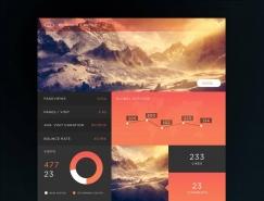 20个漂亮的dashboard管理UI设计