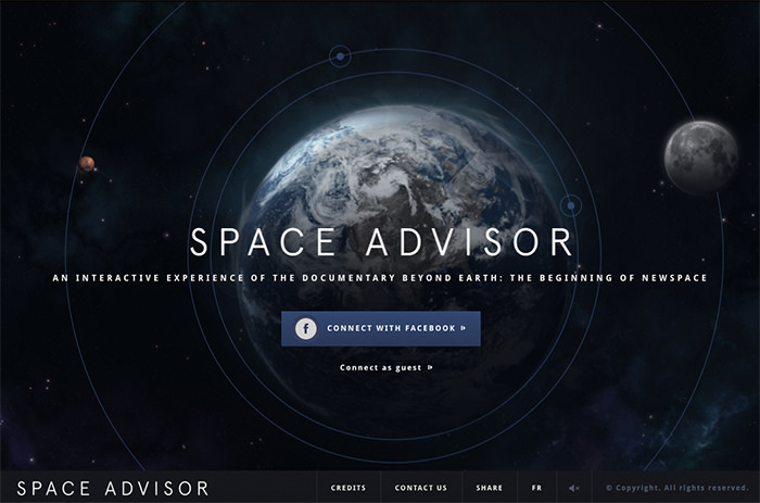 20个漂亮的太空主题网页设计