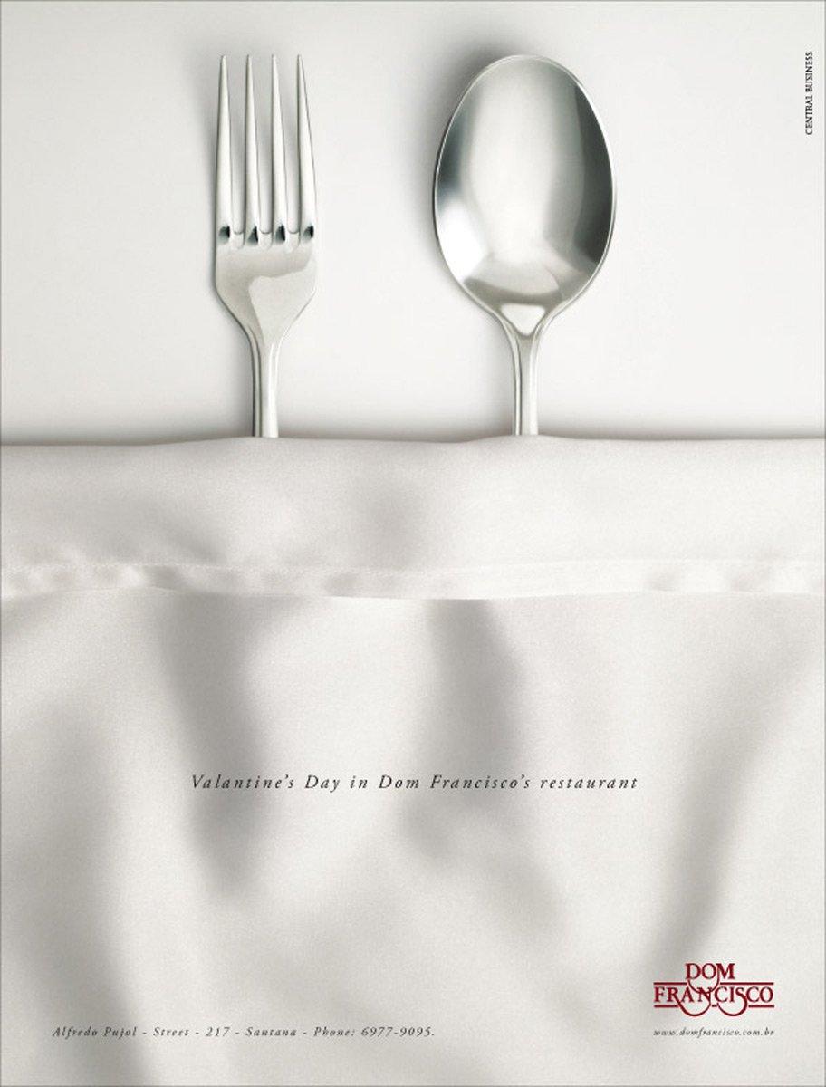 25个创意情人节平面广告设计