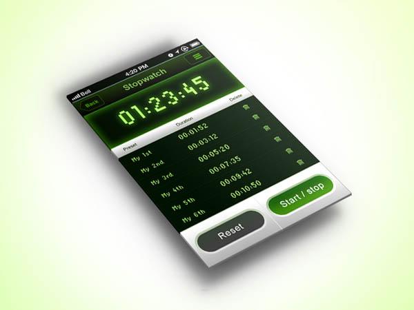 25个秒表APP UI设计作品