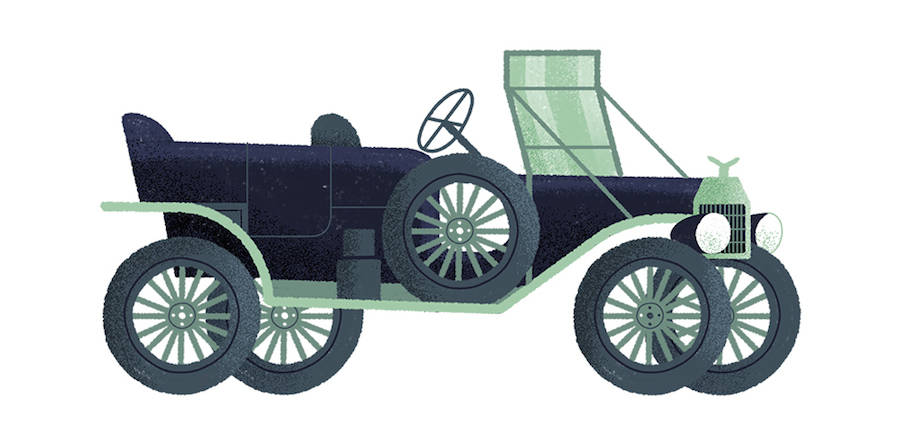 Studio MUTI:经典汽车的时尚优秀插画欣赏 - 精品优秀插画