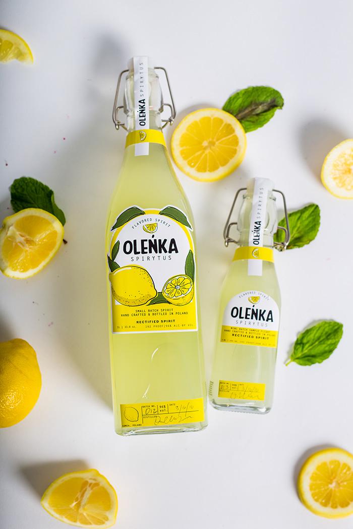 OLENKA手绘风格果汁包装设计