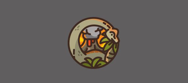 標誌設計元素應用實例:恐龍