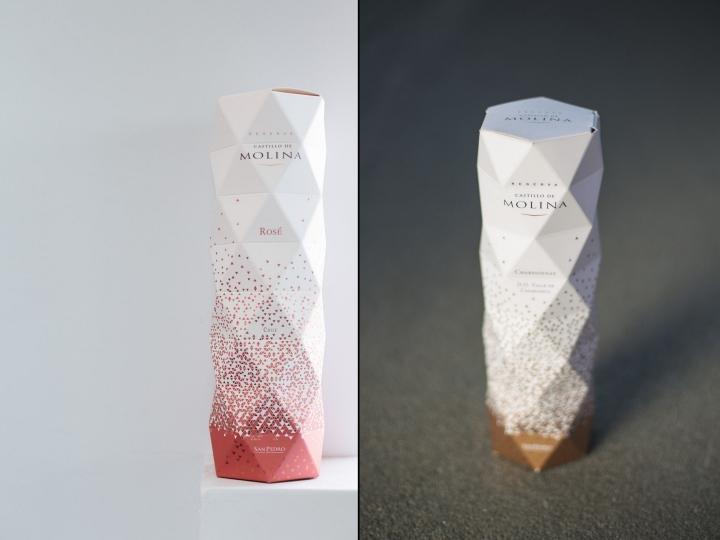 Castillo De Molina摺紙風格紅酒包裝設計
