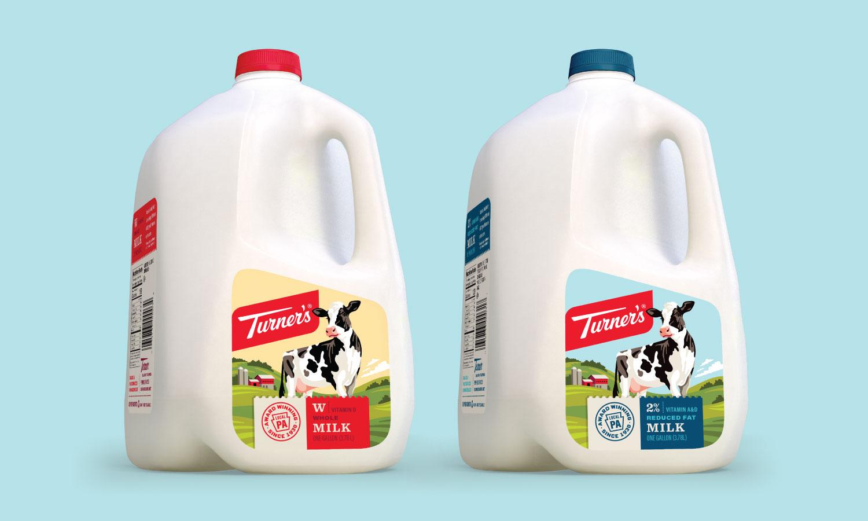 Turner's牛奶包装设计