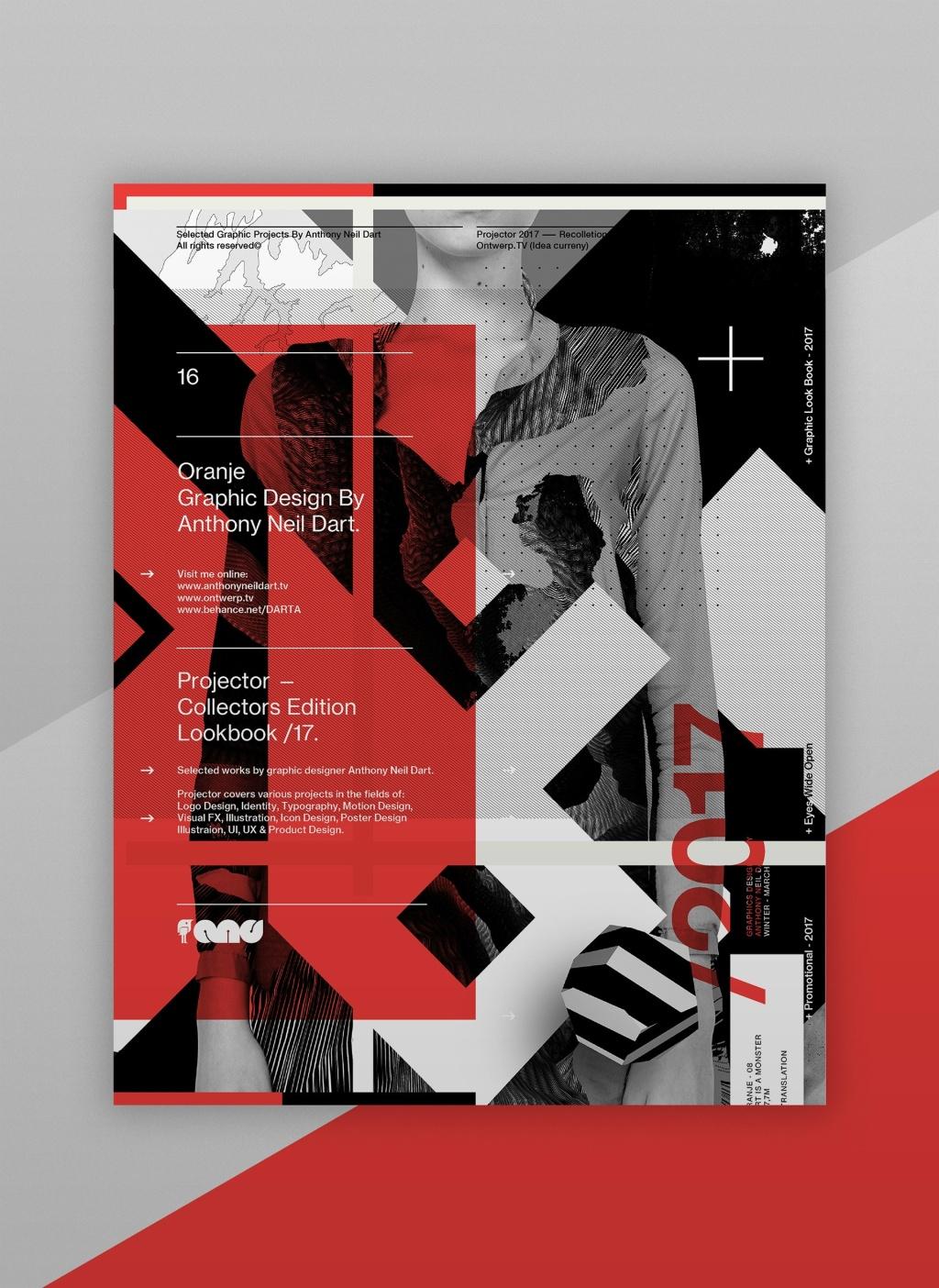 国内资讯_红、白、灰的组合排版: Projector Posters /17海报设计 - 设计之家