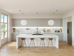 漂亮的灰和白:30个厨房设计欣赏