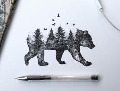 Alfred Basha手繪動物插畫作品欣賞