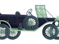 Studio MUTI:經典汽車的時尚插畫欣賞