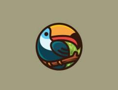 标志设计元素应用实例:巨嘴鸟