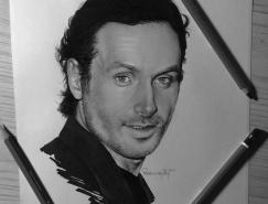 Pedro Lopes漂亮的好莱坞明星彩色铅笔肖像画