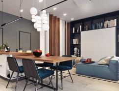 5个现代时尚公寓设计效果图欣赏