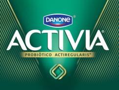 达能Danone Activia酸奶品牌形象和包装升级