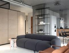 混凝土工业风的莫斯科PP4现代公寓设计