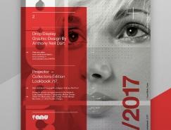 红、白、灰的组合排版: Projector Posters /17海报皇冠新2网