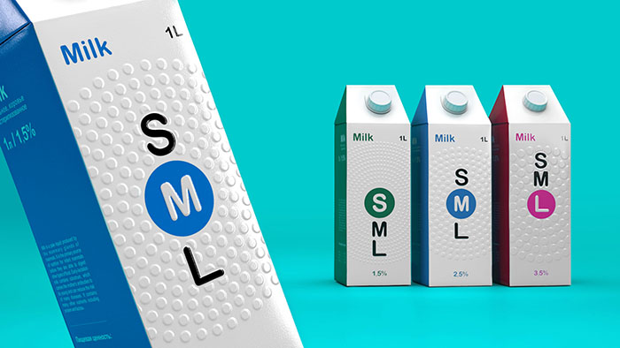 SML牛奶包装设计