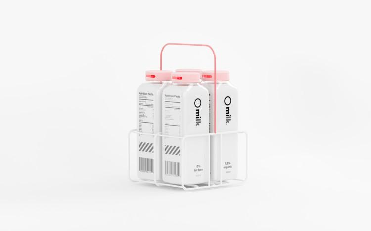 橄榄油品牌_Erik Musin:极简风格牛奶包装设计 - 设计之家
