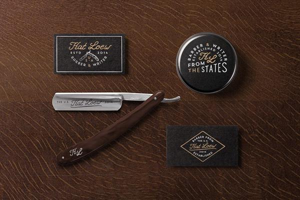 26款国外理发师名片设计