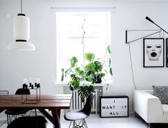 赫尔辛基干净、纯白的极简风格公寓设计
