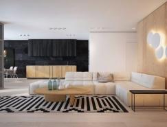 黑白浅木色 2个简约现代风格