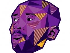 NBA球星POP艺术插画设计