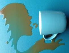 无需颜料:Aravis Dolmenna惊艳的水滴画作