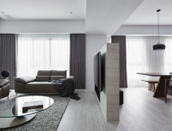 黑、白、灰三色打造的台中现代住宅空间设计